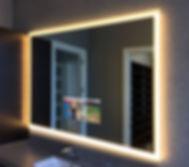 espejo con television y luz