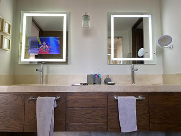 Espejo con television