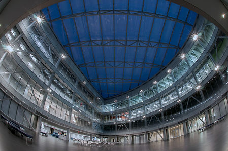 interior of the Zen building at the SUNY Poly Albany campus