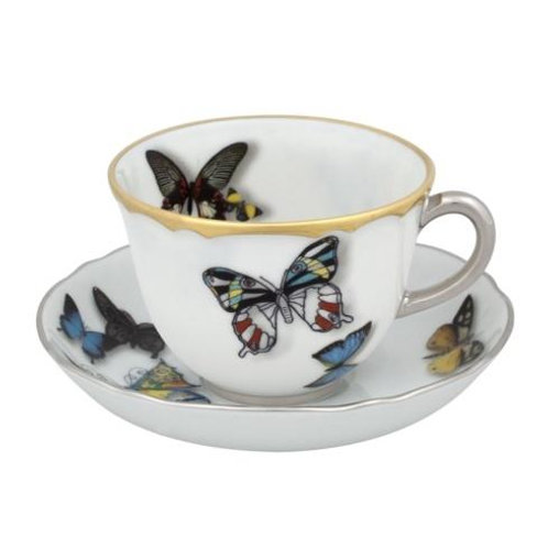 Vista Alegre Christian Lacroix - Butterfly Parade Set 2 Coffee Cups & Saucers