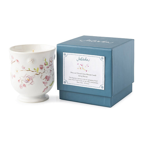 Juliska Berry & Thread Floral Sketch Cherry Blossom Candle