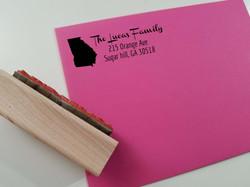 State Love Address Stamp