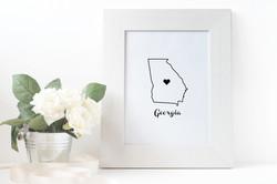 Prints - State Love - Georgia