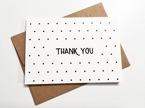 Polka Dot Thank You Notes