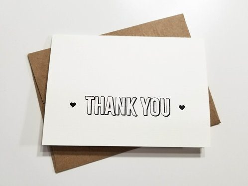 Heart Thank You Notes