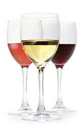 Verre de vin blanc, rouge, rosé