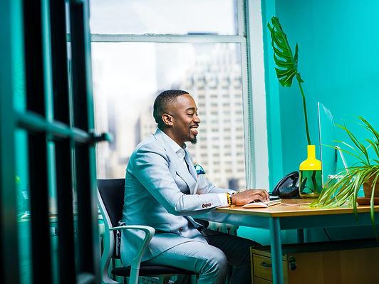 New Urban Influence Branding, a person, employees, job, desktop