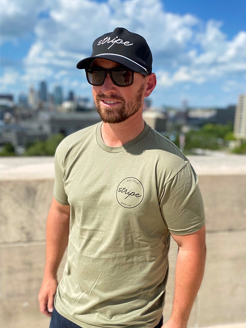 The Stripe Golf Co. T-Shirt - Olive