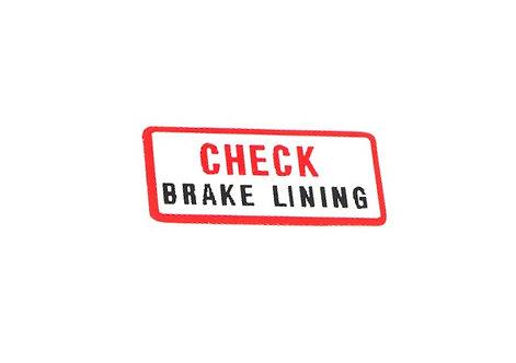 AUTOCOLLANT BRAKE LINING