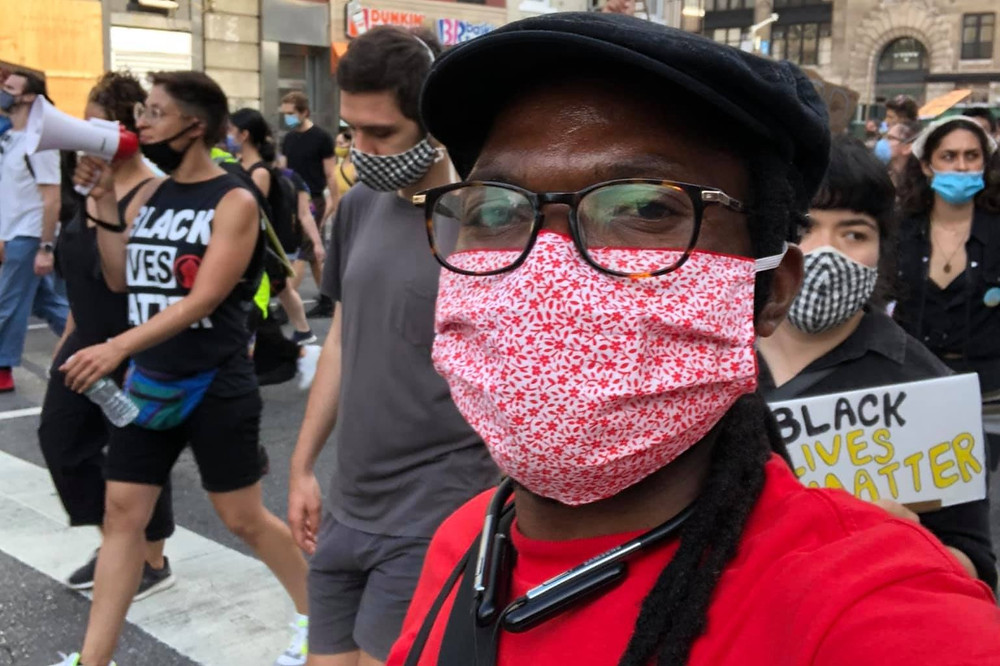 Owen Chari attending a Black Lives Matter protest in June 2020. Photo Courtesy of: Owen Chari
