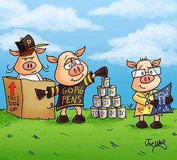 3 pigs color test