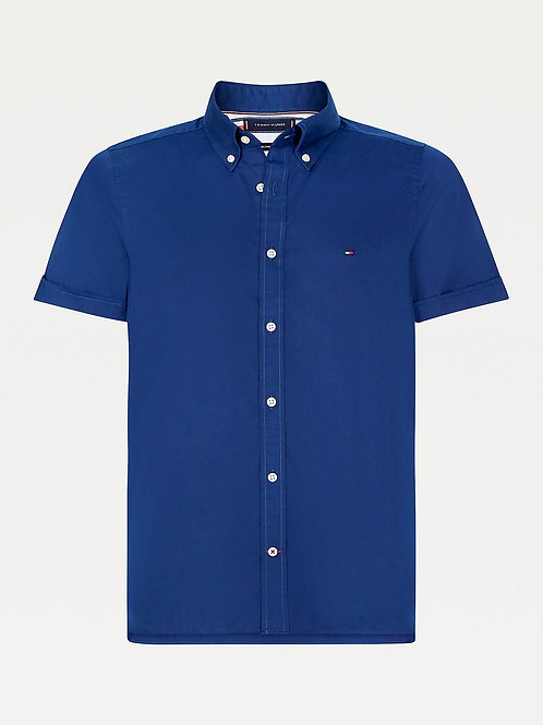 Tommy Hilfiger Turn Back Cuff Shirt in Carbon Navy