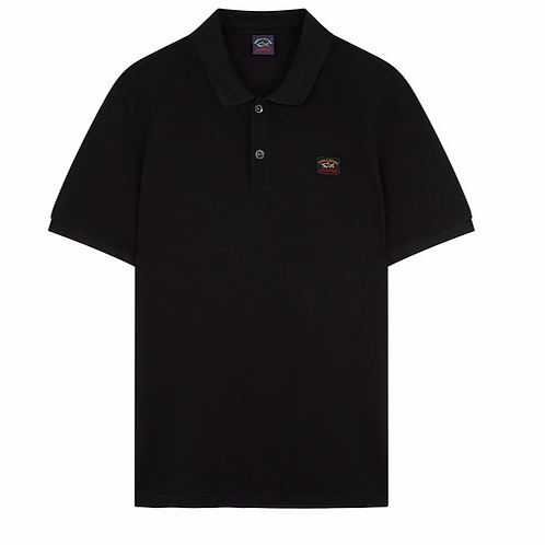 Badge Polo in Black