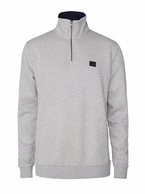 Clinton Half Zip Sweatshirt Grey