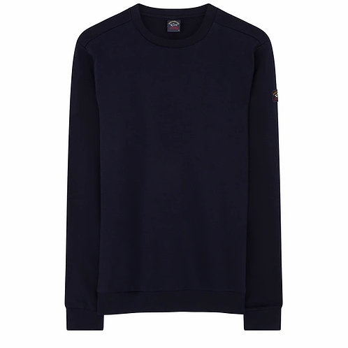 Sleeve Patch Sweater in Navy