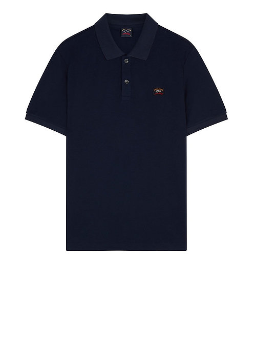 Badge Polo in Navy