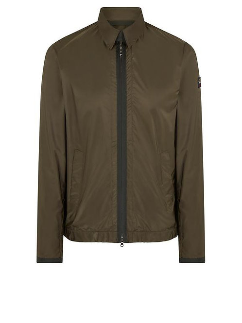 Nylon Overshirt in Military Green