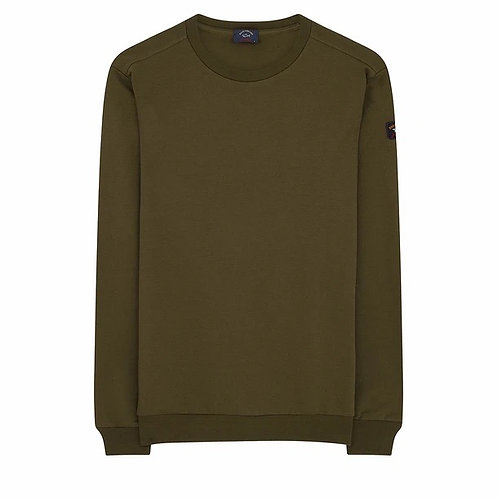 Sleeve Patch Sweater in Khaki