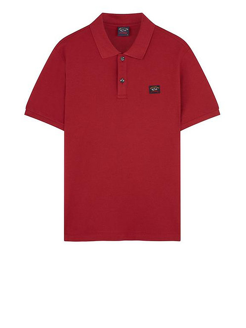 Badge Polo in Dark Wine