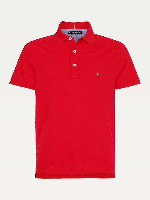 Slim Fit Polo Primary Red