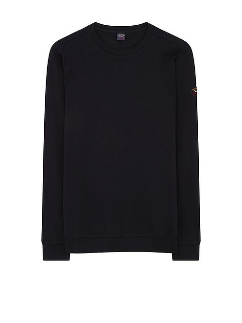 Sleeve Patch Sweater in Black