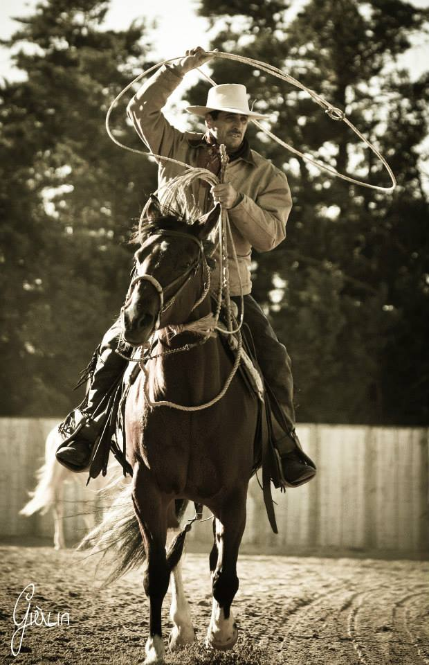 Stage ranch roping, Luc Giordano