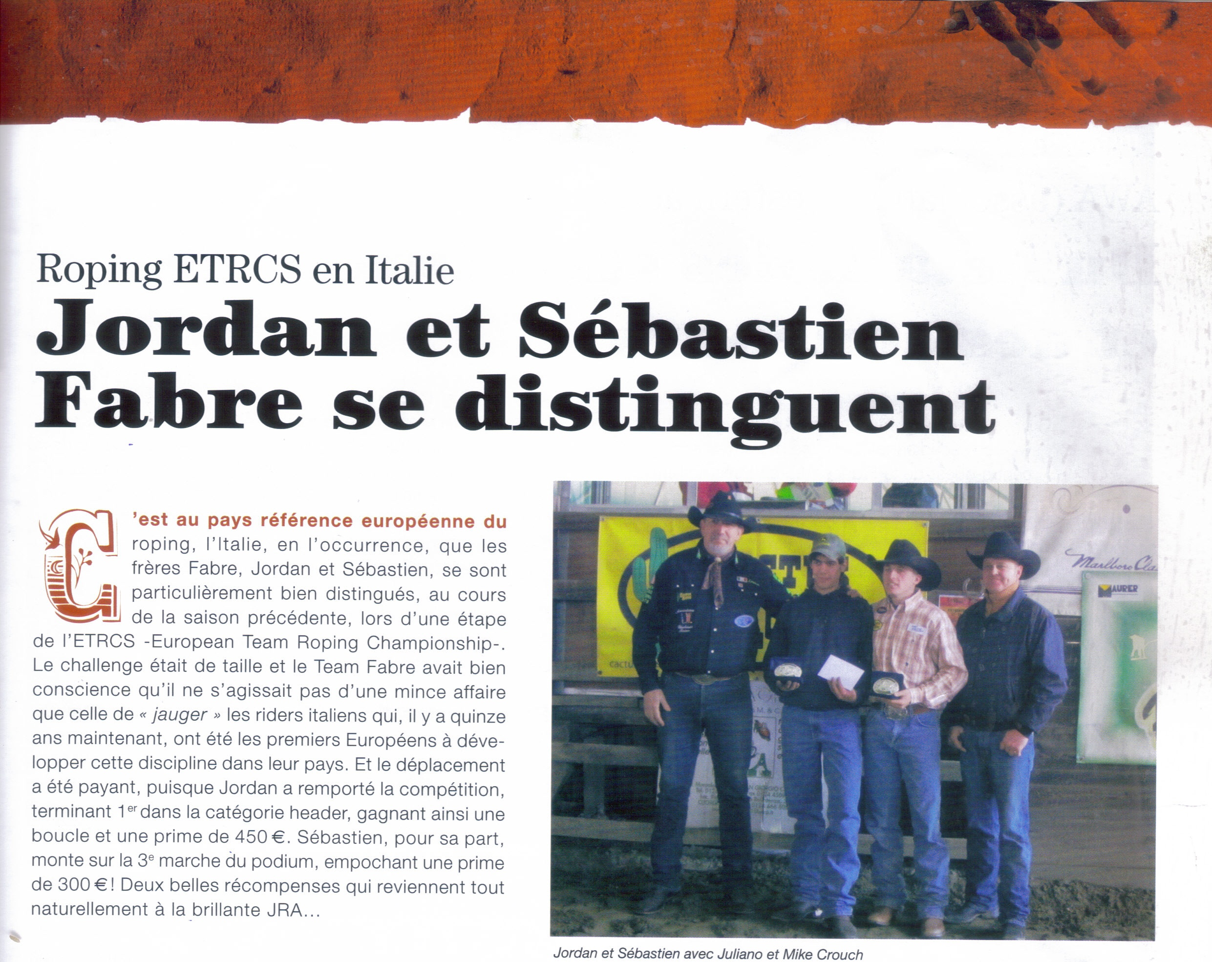 ARTICLE EQUIWEST MAI JUIN 2011