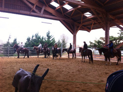 Stage ranch roping Luc Giordano