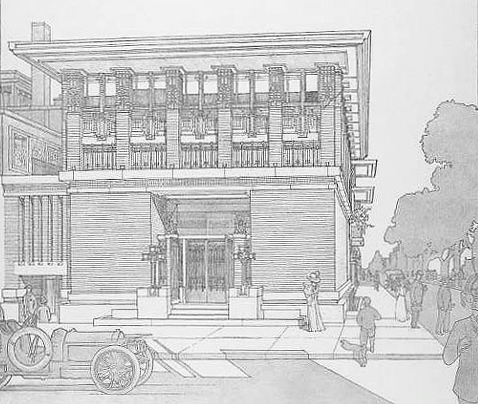 Wrights Drawing Of The Bank