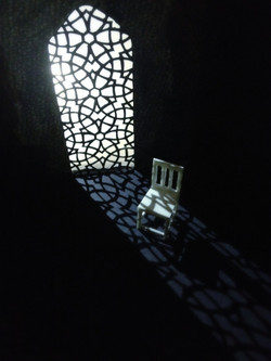 Moroccan window and chair