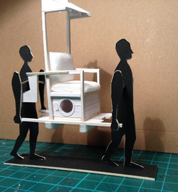 Sedan chair with 2D carriers
