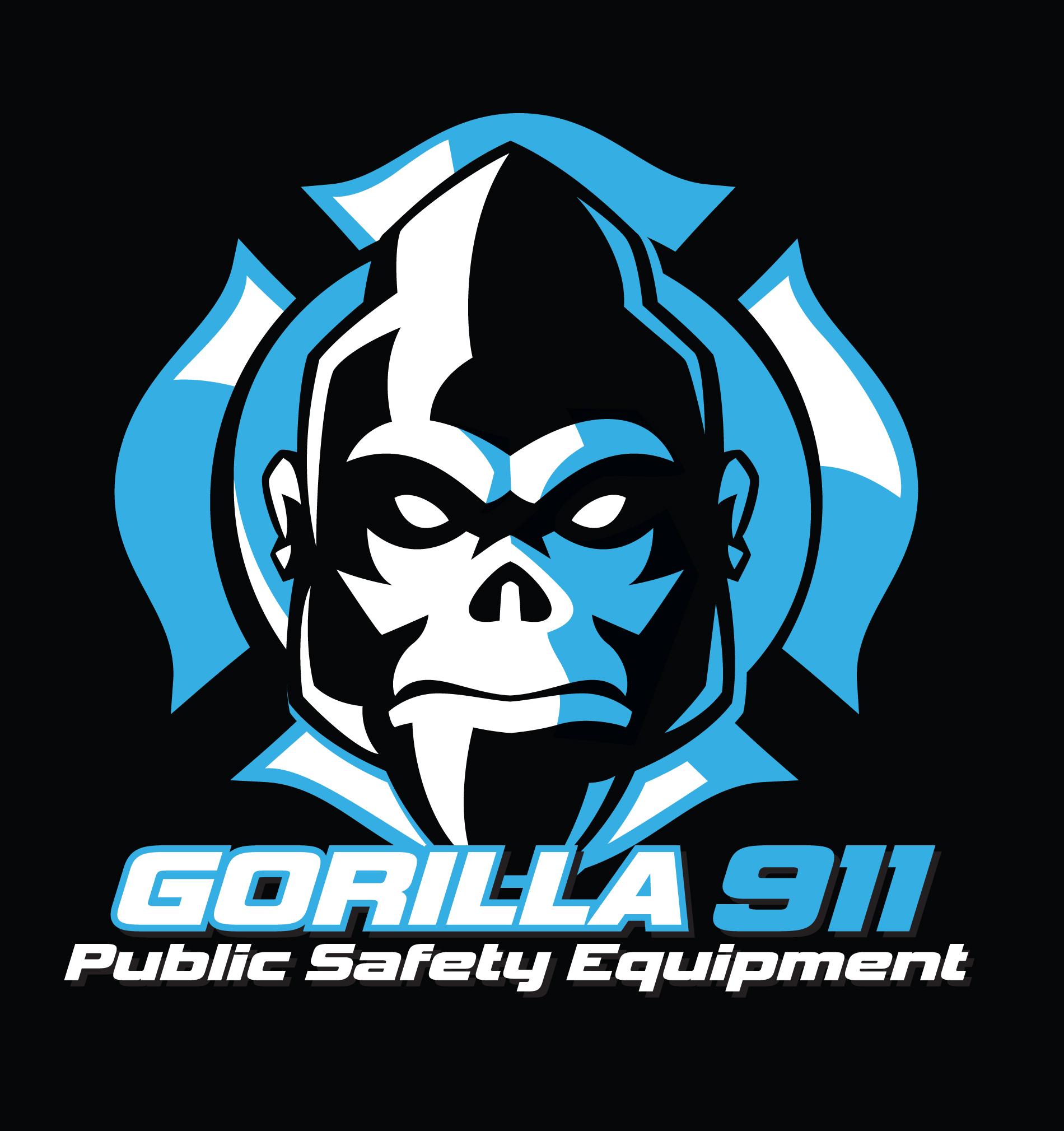 gorilla 911 shirt (blue on black)