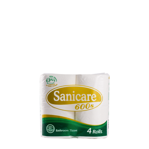 Sanicare Bathroom Tissue 3 Ply 200 Pulls (4 Pieces)