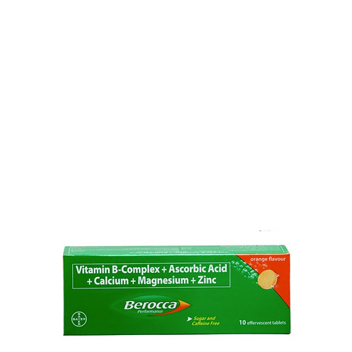 Berocca Orange Energy Vitamins Effervescent 10 Tablets