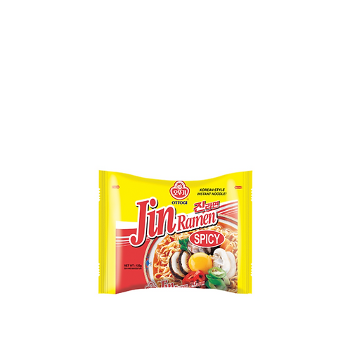 Ottogi Jin Ramen Spicy Pouch 120 Grams