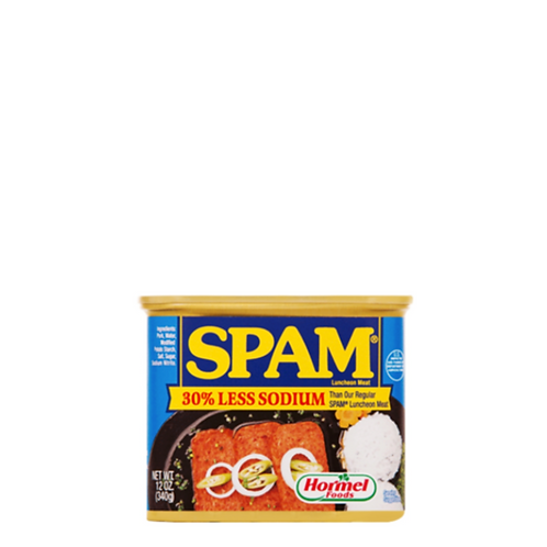 SPAM Luncheon Meat Less Sodium 12 Ounce