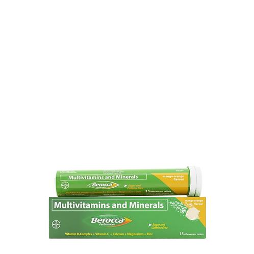 Berocca Mango Orange Energy Vitamins Effervescent 15 Tablets