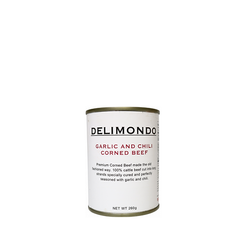 Delimondo Garlic and Chili Corned Beef 260 Grams