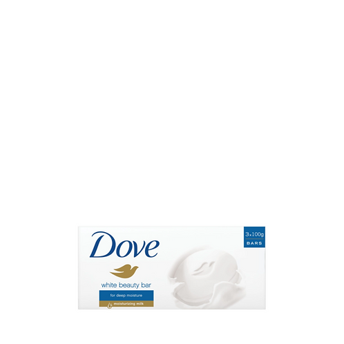 Dove Bar Soap Regular White Triples 100 Grams (3 Pieces)