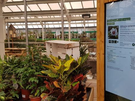 Everton Nurseries Plant Finder kiosk