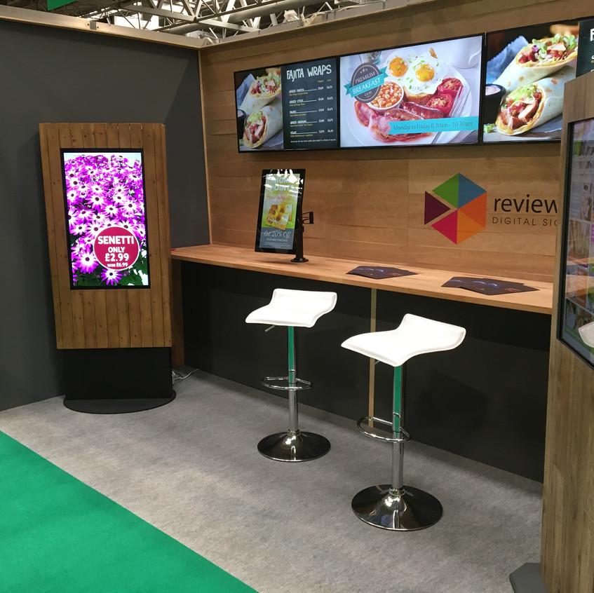 digital signage exhibition stand