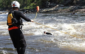 Safety, risk, hazard mitigation, training, rescue for river runners, river rescue training