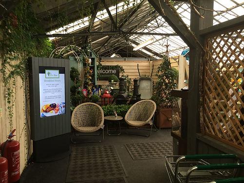 Garden centre digital signage