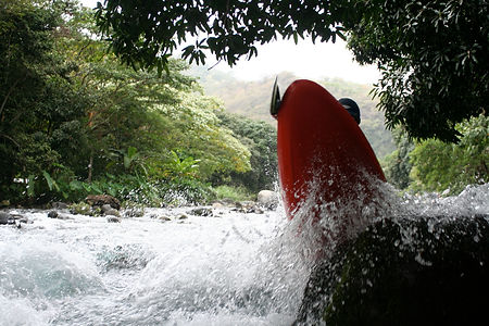 Whitewater Adventures in Costa Rica and Mexico, Oc1 paddling, whitewater Canoeing, whitewater kayaking
