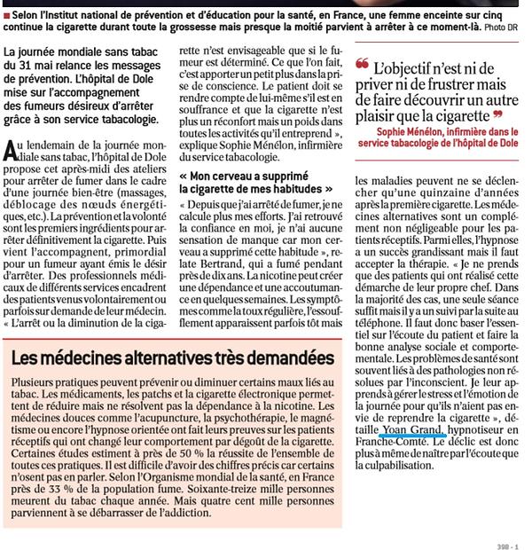 hypnotiseur tabac Besançon
