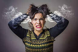 Furious and frustrated caucasian woman s