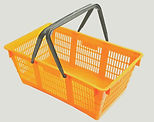 Shopping basket isolated on white backgr