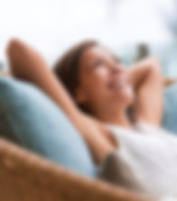 Home lifestyle woman relaxing enjoying l