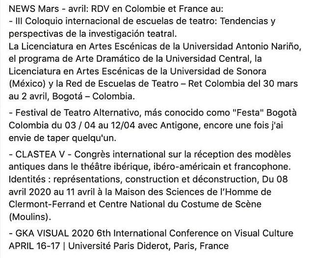 News : Mars / Avril .