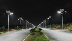 Solar Street Lamp Night Time